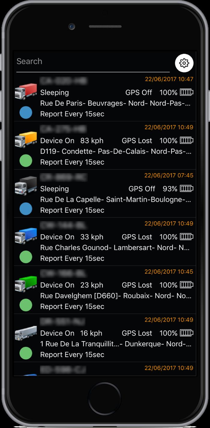 TrackServer Devices