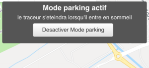 Mode Parking traceur GPS